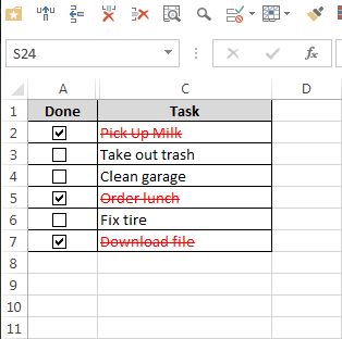how to make a todo list in excel