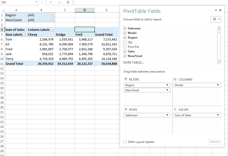 How To Use Show Report Filter Pages Option For PivotTables