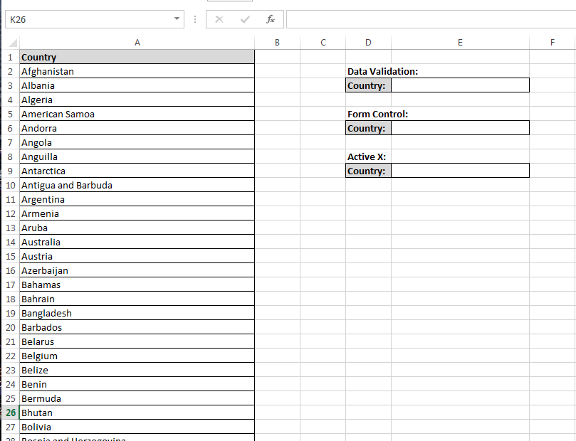 How To Create Drop Down Lists Three Different Ways In Excel