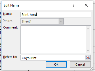 How To Automatically And Dynamically Set Your Print Area In